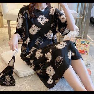 Loose sleepwear shirt dress pj women Size XL